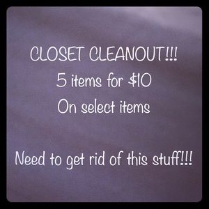 Other - Closet cleanout!!!